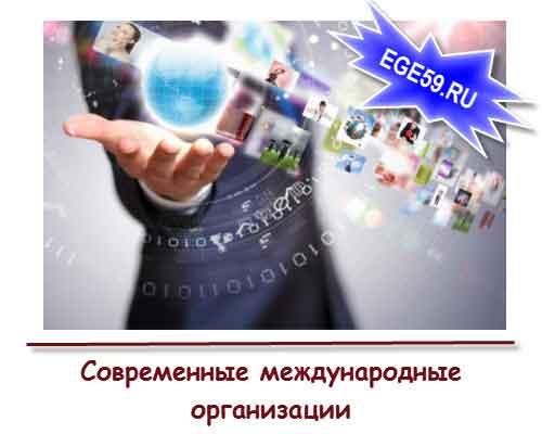 Современные международные организации