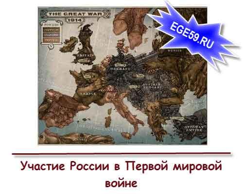 Участие России в Первой мировой войне
