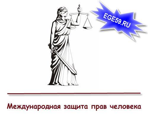 Международная Защита прав человека