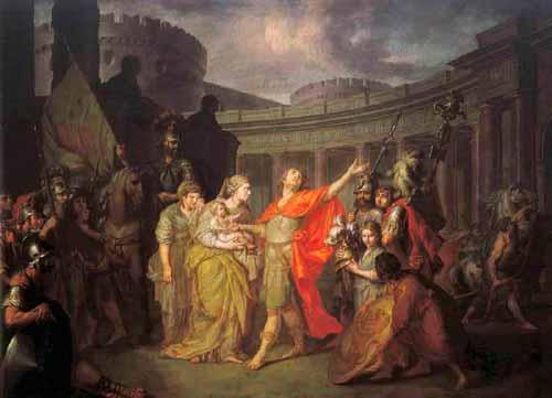 А. П. Лосенко «Прощание Гектора с Андромахой», 1773 г.