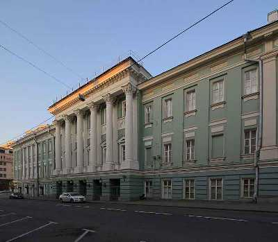 М. Ф. Казаков. Здание Благородного собрания в Москве, 1775 г.