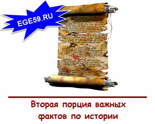 Факты по истоии