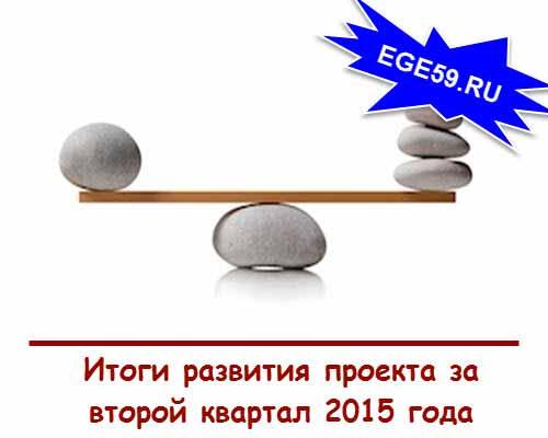 Итоги за второй квартал 2015