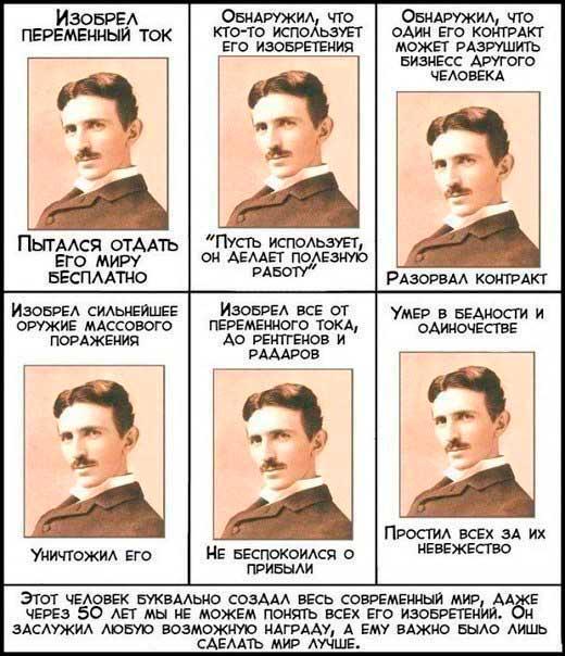 Никола Тесла - гениальный человек