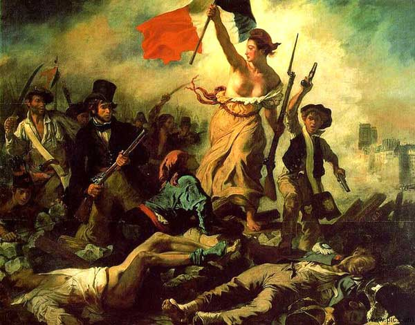 Эжен Делакруа Свобода, ведущая народ. 1830 La Liberté guidant le peuple Холст, масло. 260 × 325 см