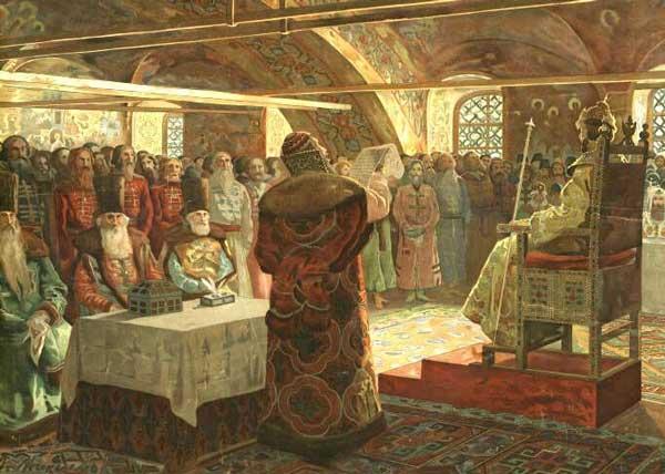 Заседание Земского собора при Иване IV Грозном