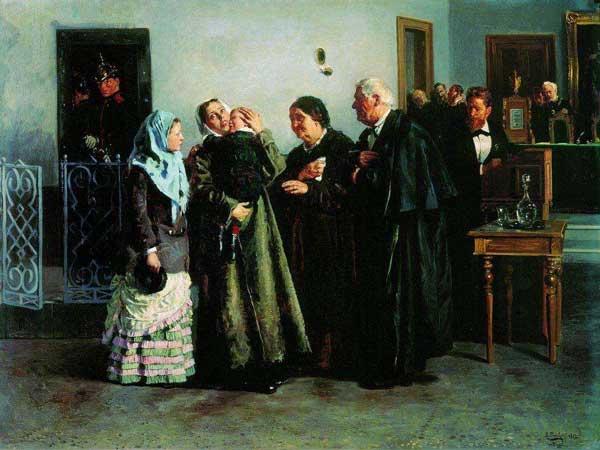 Оправданная. 1882. Маковский В. Е.