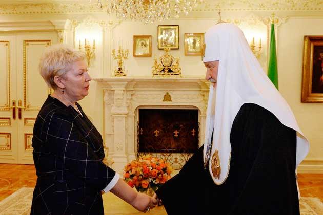 Министр образования и науки РФ встретилась с патриархом всея Руси