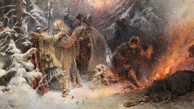 Фрагмент картины Константина Маковского «Иван Сусанин»