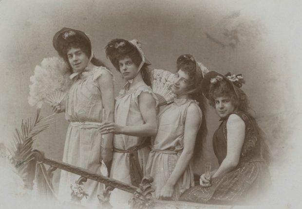 Актеры-студенты. Постановка «Затонувший колокол», 1898 г.