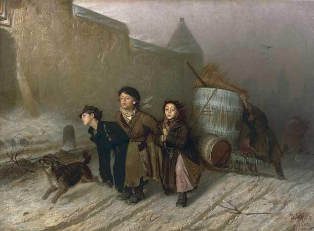 """Картина """"Тройка"""", художник В.Г. Перов, 1866 год"""