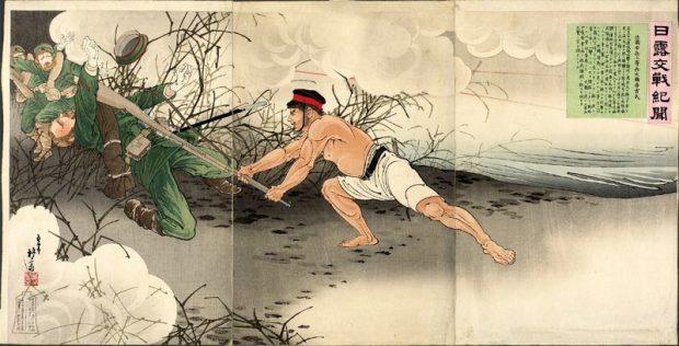 Плакат времен Русско-японской войны - Япония