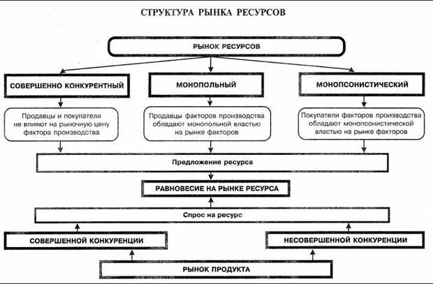 Структура рынка: понятие и виды