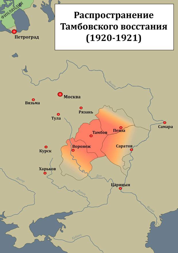 Тамбовское восстание: причины, ход событий, итоги